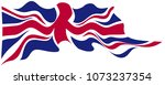england flag flying on white...   Shutterstock .eps vector #1073237354