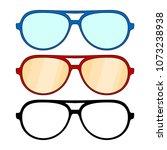 set of glasses frames  round... | Shutterstock .eps vector #1073238938