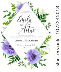 wedding invite  invitation ... | Shutterstock .eps vector #1073245013