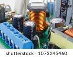 ferrite choke with electronic... | Shutterstock . vector #1073245460