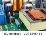 transformer and electronic... | Shutterstock . vector #1073245463