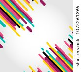colorful line abstract... | Shutterstock .eps vector #1073261396