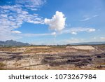 mae moh mine  lampang lake with ... | Shutterstock . vector #1073267984