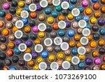 metal espresso coffee capsules... | Shutterstock . vector #1073269100