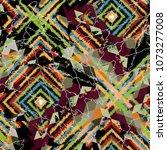 seamless pattern patchwork... | Shutterstock . vector #1073277008
