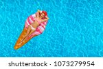summer vacation. enjoying... | Shutterstock . vector #1073279954