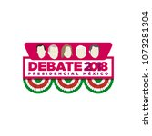 presidential debate. elections...   Shutterstock .eps vector #1073281304