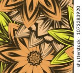 seamless floral background.... | Shutterstock .eps vector #1073283920