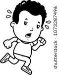 a cartoon illustration of a boy ... | Shutterstock .eps vector #1073287496