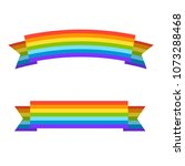 rainbow ribbons for lgbt pride. ... | Shutterstock .eps vector #1073288468