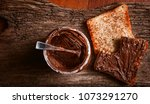 empty can of chocolate paste... | Shutterstock . vector #1073291270