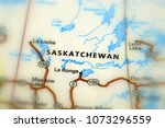 Saskatchewan, a prairie and boreal province in western of Canada (selective focus).