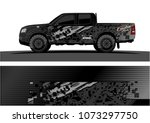truck graphic vector design.... | Shutterstock .eps vector #1073297750
