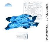 blue brush stroke and texture.... | Shutterstock .eps vector #1073298806