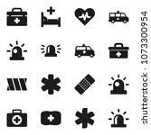 flat vector icon set   first... | Shutterstock .eps vector #1073300954