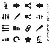 flat vector icon set   pen...