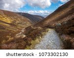 cairngorm mountains and route... | Shutterstock . vector #1073302130