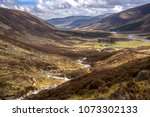 cairngorm mountains and route... | Shutterstock . vector #1073302133