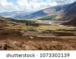 cairngorm mountains and route... | Shutterstock . vector #1073302139