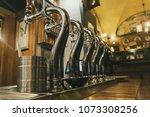 draft beer staplers  inside... | Shutterstock . vector #1073308256