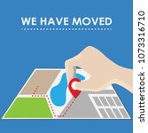 we have moved  changed address. ... | Shutterstock .eps vector #1073316710
