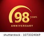 98 years golden anniversary... | Shutterstock .eps vector #1073324069