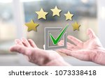 evaluation concept above the... | Shutterstock . vector #1073338418