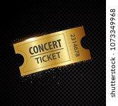 vector golden tickets and... | Shutterstock .eps vector #1073349968