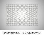 puzzle piece vector background. | Shutterstock .eps vector #1073350940