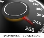 car speedometer dial indicating ... | Shutterstock . vector #1073352143