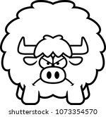 a cartoon illustration of a yak ... | Shutterstock .eps vector #1073354570