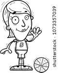 a cartoon illustration of a... | Shutterstock .eps vector #1073357039