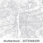 map of prague  satellite view ... | Shutterstock .eps vector #1073368100