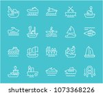 collection of line white icons... | Shutterstock .eps vector #1073368226