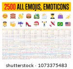 all type of emojis  stickers ... | Shutterstock .eps vector #1073375483