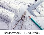 the part of architectural... | Shutterstock . vector #107337908