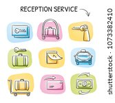 hotel reception service icon... | Shutterstock .eps vector #1073382410
