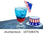 patriotic drink with hat and... | Shutterstock . vector #107338376
