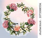 vintage beautiful watercolor...   Shutterstock . vector #1073388536