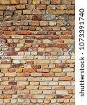 old brick wall texture... | Shutterstock . vector #1073391740