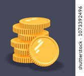 coins vector icon illustration. ... | Shutterstock .eps vector #1073392496