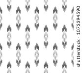 black and white ikat tribal... | Shutterstock .eps vector #1073394590
