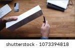 paris  france   apr 12 2018 ...   Shutterstock . vector #1073394818