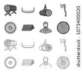 circular saw  a working...   Shutterstock .eps vector #1073400020