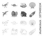 prehistoric shell  dinosaur... | Shutterstock .eps vector #1073400134