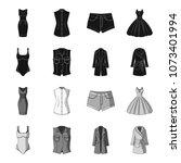 women clothing black monochrome ...   Shutterstock .eps vector #1073401994