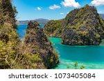 coron palawan philippines april ...   Shutterstock . vector #1073405084