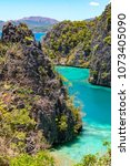 coron palawan philippines april ...   Shutterstock . vector #1073405090