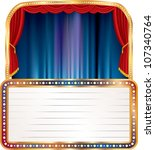 vector empty stage with blank... | Shutterstock .eps vector #107340764