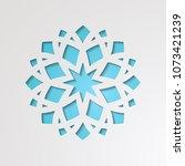round ornamental 3d cutout... | Shutterstock .eps vector #1073421239